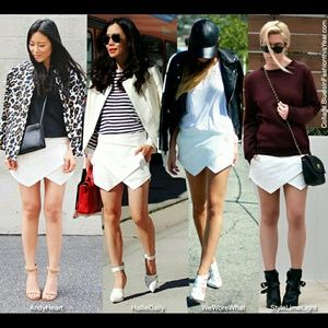 PRICE DROP! Zara Skorts in White