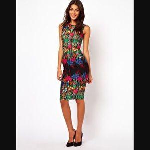 ASOS Bodycon Floral Midi Dress