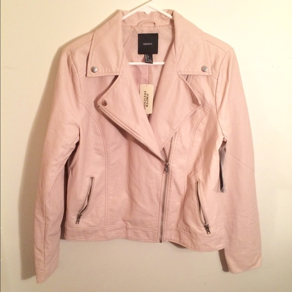 Collection Faux Leather Moto Jacket Forever 21 Pictures - Reikian