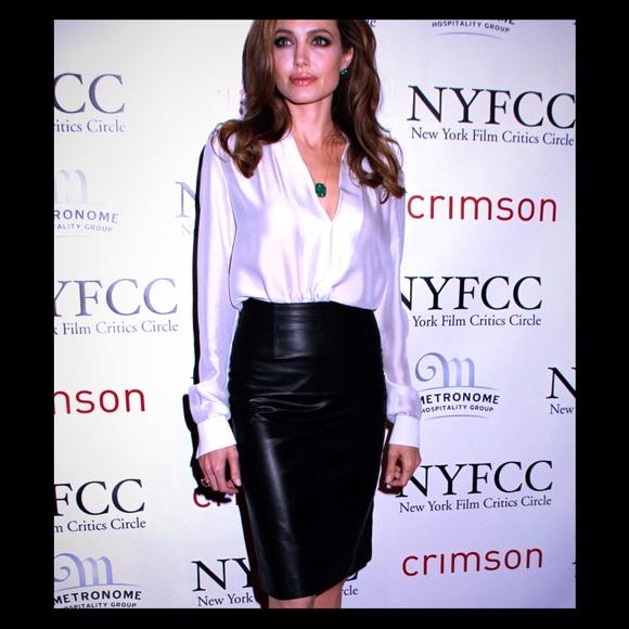 Jaclyn Smith Skirts Leather Skirt Poshmark