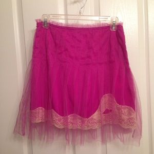 Rodarte for Target pink tulle lace slip skirt 