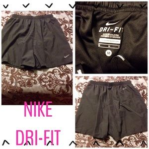 NEW!! NIKE DRI-FIT BLACK RUNNING SHORTS