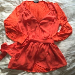 Bebe knit sleeve belted tunic NWT