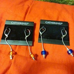 2 pair dangling earrings
