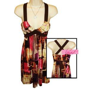 City Triangles Dresses & Skirts - City Triangles Brown V-Neck Crossover Tank Dress