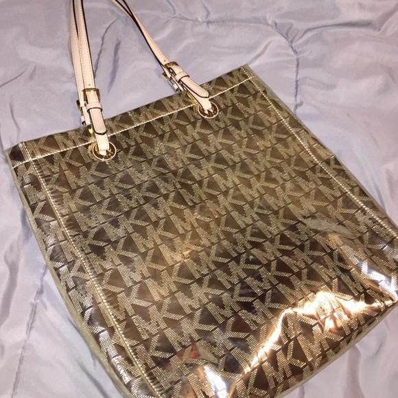 32634cc1c4fb ... marshalls e3a66 f2f5c discount code for michael kors bags mk gold tote  poshmark 5e4e6 4bd72 ...