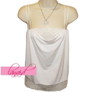 Macy's Tops - 🆕White Bubble Blouson Drape Ruched Flowy Tank Top