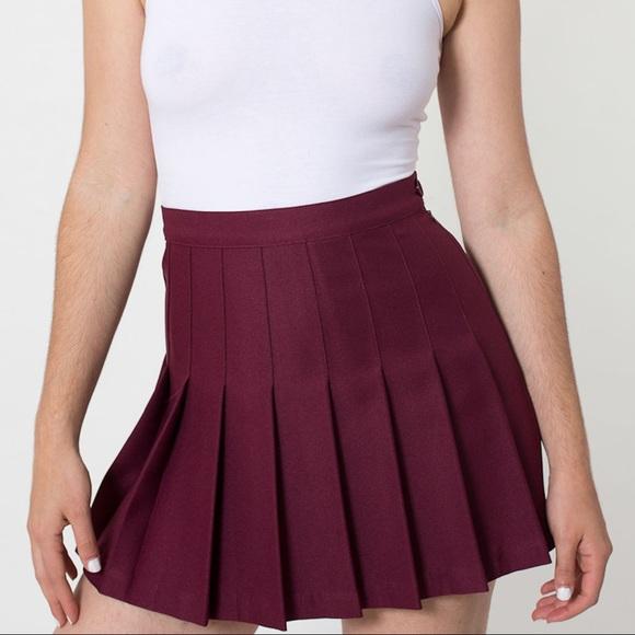 American Apparel Dresses   Skirts - Maroon American Apparel tennis skirt 53a171be8