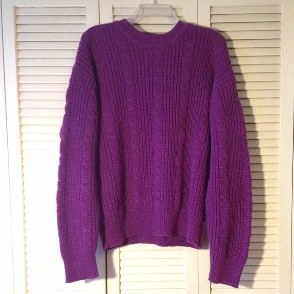 76% off Trend Basics Sweaters - Chunky Purple Sweater from ...