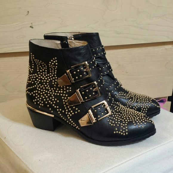 choies shoes chloe susanna studded boots dupe poshmark. Black Bedroom Furniture Sets. Home Design Ideas