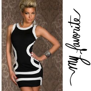 Dresses & Skirts - SALE 💛 Black & White Sexy Dress