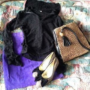Authentic purple suede skirt