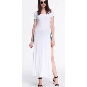 💢LOWEST💢Adorable maxi slit top NWT M