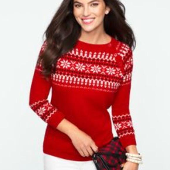 89% off Talbots Sweaters - ⛄️Petite fair isle sweater ...