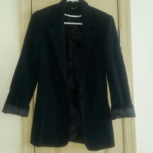 Asos NWOT fitted navy blazer with lined cuffs