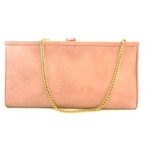 Light pink clutch purse