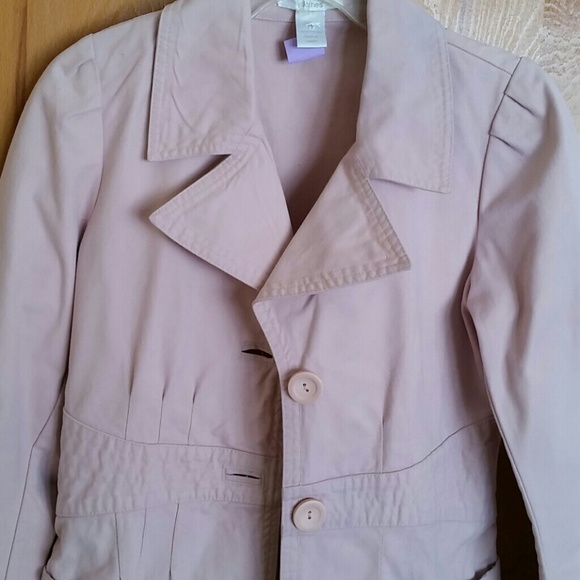 H&m Pale Pink Twill Trench