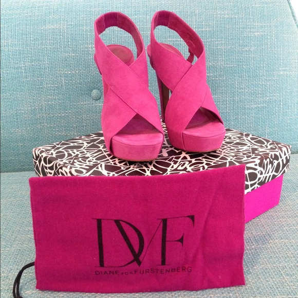 DVF Zia Platform Heels