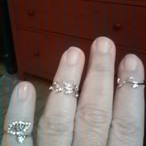 set of three above knuckle  rings