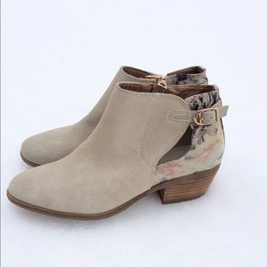 Anthropologie Very Volatile Floral Ankle Boots