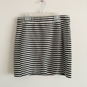 Madewell black white skirt size M