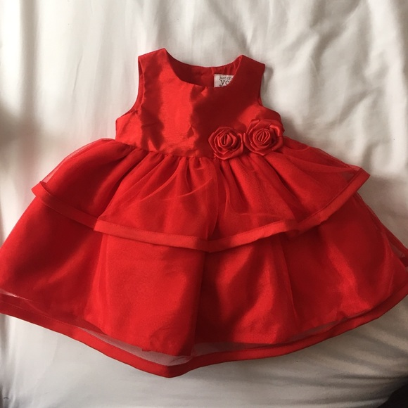 3 month red dress red