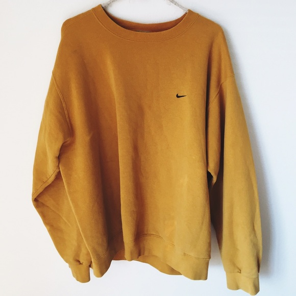 yellow nike jumper