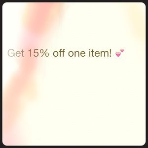 15% off any item!
