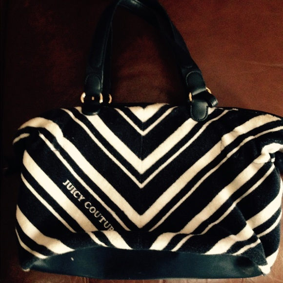 Juicy couture .. Navy and white chevron