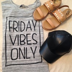 """Friday Vibes Only"" Tee"