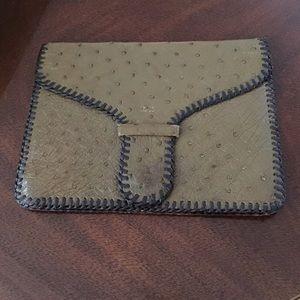 Vintage Ostrich Clutch!