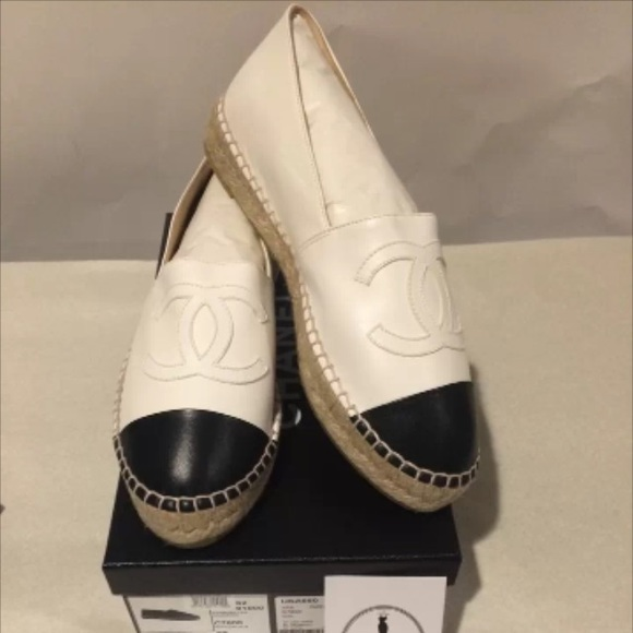 dbfffdfc447 ✨SOLD✨Chanel new in box white black espadrilles NWT