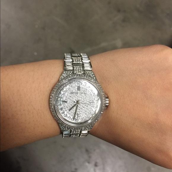 784043b67265 Michael kors camille silver tone glitz watch. M 54f8db716a5830502a005917
