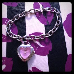 Bracelet with a heart shaped pink watch ❤️