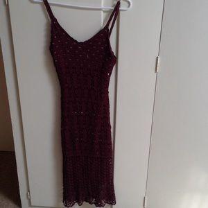 Maroon Beaded dress