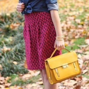 LOFT Skirts - FINAL MARKDOWN! Red & Cranberry Chevron Skirt