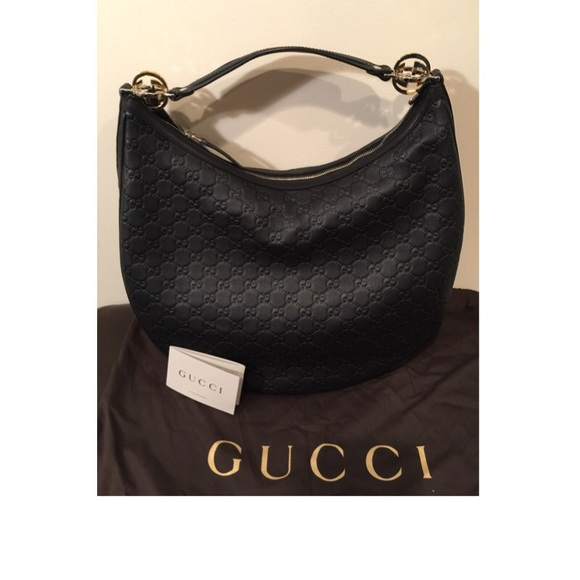 dc4041ab1 Gucci Bags | Black Gg Twins Large Hobo Authentic | Poshmark