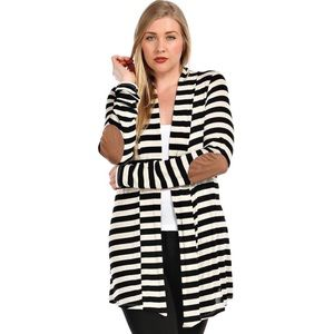 2XL & 3XL available. Elbow patch stripe Cardi