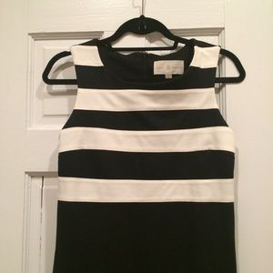 Julie Brown Dresses - FINAL MARKDOWN: Black and White Striped Dress