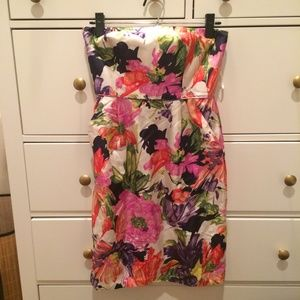 J. Crew Dresses & Skirts - Strapless Floral Dress with Pockets