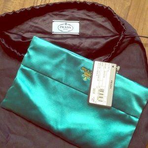 47% off Prada Handbags - Teal Prada Silk Clutch from Laura\u0026#39;s ...