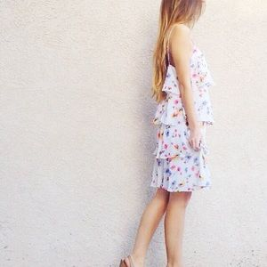 | new | tiered floral dress