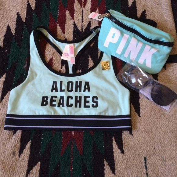 NWT Victoria/'s Secret Fashion Show PINK Nation Aloha Beaches Bra Top Size Medium