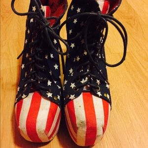 Jeffrey campbell lita American flag used