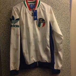 New - Men's XL Adidas Italy TT Jacket.