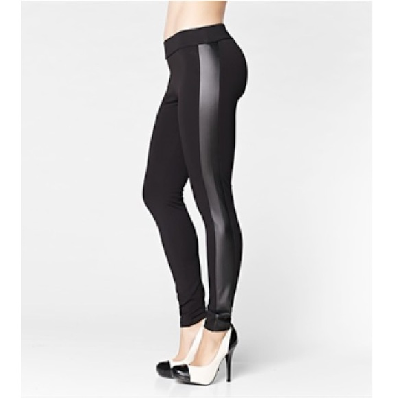 71a75091 Zara Basic legging w|faux leather side panels. M_54f925fcc6c7952dcf007705