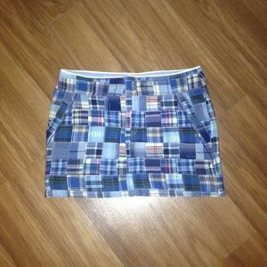 American eagle plaid patchwork mini skirt