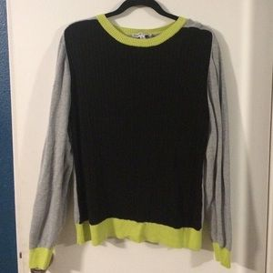 Color Block Cable knit Sweater XL