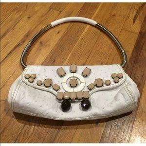 93% off Prada Handbags - ??9/2 HP?? Prada Ivory Leather Satchel ...