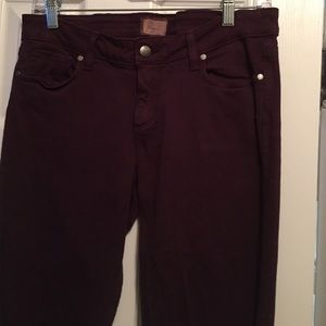 Burgundy Paige jeans